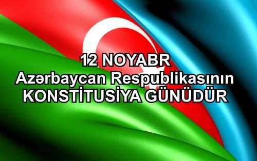 Bu gün Azərbaycanda Konstitusiya Günüdür