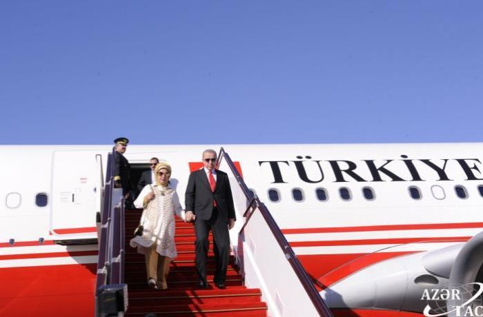 Ərdoğan  Azərbaycana gəlib