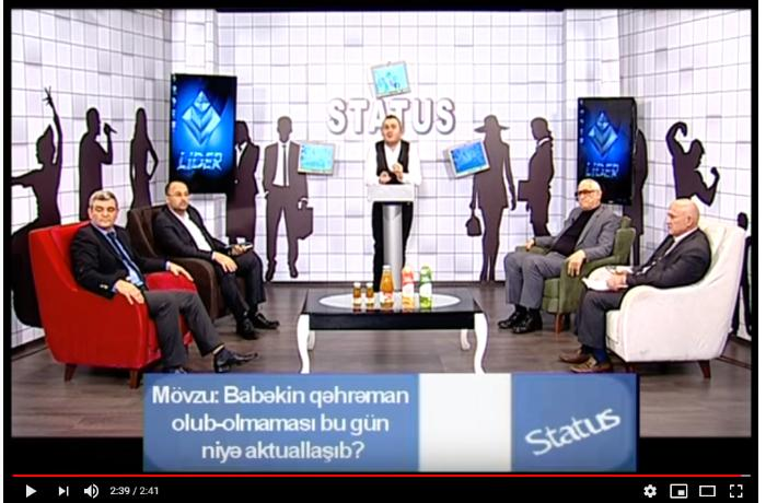 Canli efirdə deputat ilə tarixçi arasında mübahisə düşdü - VİDEO