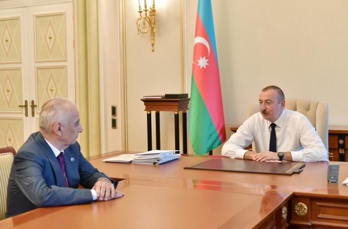 President Ilham Aliyev received Deputy Prime Minister Hajibala Abutalibov as he submitted his resignation letter