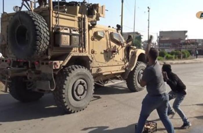 ABŞ hərbi texnikası Suriyada hücuma məruz qalıb