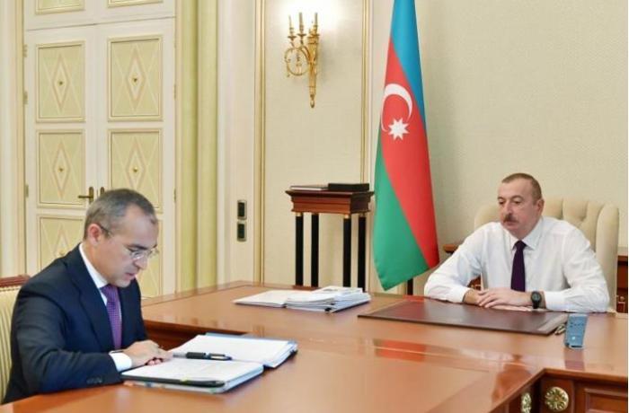President Ilham Aliyev received Mikayil Jabbarov