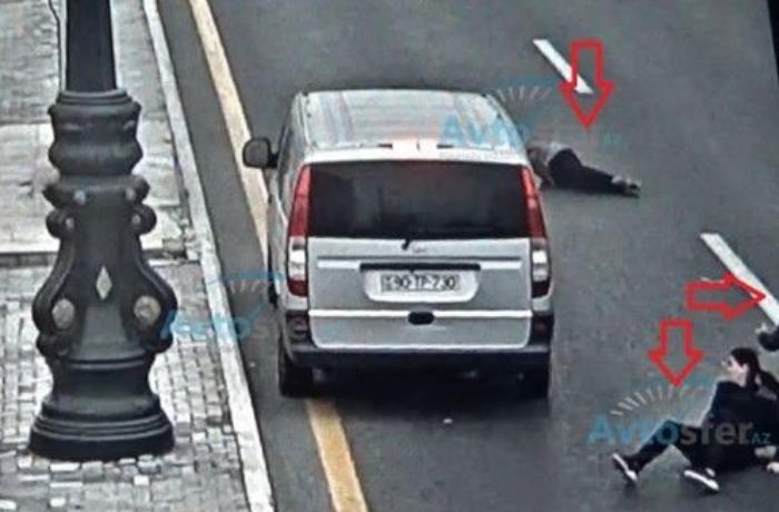 Bakıda DƏHŞƏT: Maşın yolu keçən üç qızı vurdu, biri altında qaldı - ANBAAN VİDEO