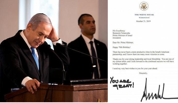Donald Tramp Netanyahunun doğum gününü təbrik etdi: Möhtəşəmsiniz!