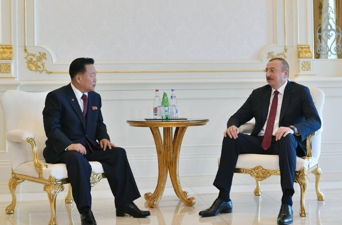 President Ilham Aliyev received President of Presidium of Supreme People's Assembly of Democratic People's Republic of Korea