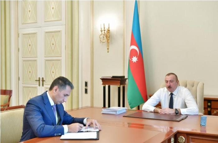 President Ilham Aliyev received chairman of Azercosmos OJSC