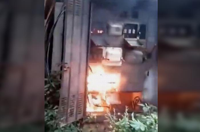 Rusiyada transformator partladı, işçi yandı – ANBAAN VİDEO