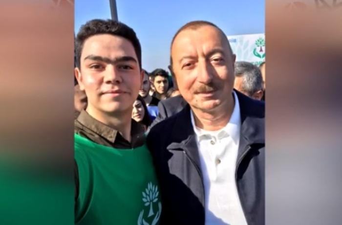"""Prezidentə """"şəklimiz bulanıq düşüb, yenidən çəkdirək"""" deyən gənc kimdir? - VİDEOMÜSAHİBƏ"""