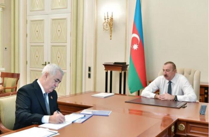 Prezident İlham Əliyev Cavid Qurbanovu qəbul edib - FOTO