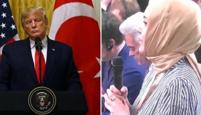 """Tramp türkiyəli jurnalistə: """"Jurnalist olduğuna əminsən?"""" - VİDEO"""
