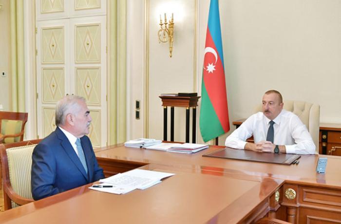 Prezident Vasif Talıbovu qəbul etdi - FOTO