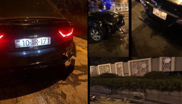 Bakıda avtomobilini qəza yerində qoyub qaçan sürücü ilə bağlı cinayət işi başlayıb - RƏSMİ