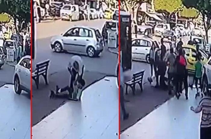 Avtobus sürücüsü uşaqları qəddarcasına döydü - VİDEO