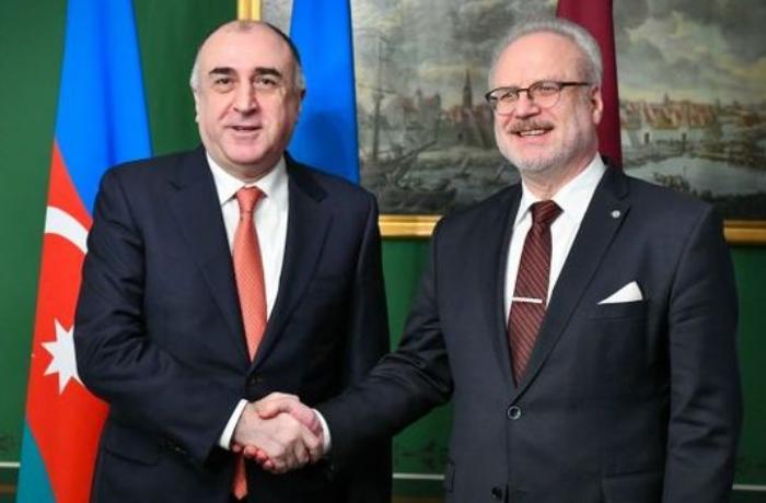 Elmar Məmmədyarov Latviya Prezidenti ilə Dağlıq Qarabağ münaqişəsini müzakirə edib