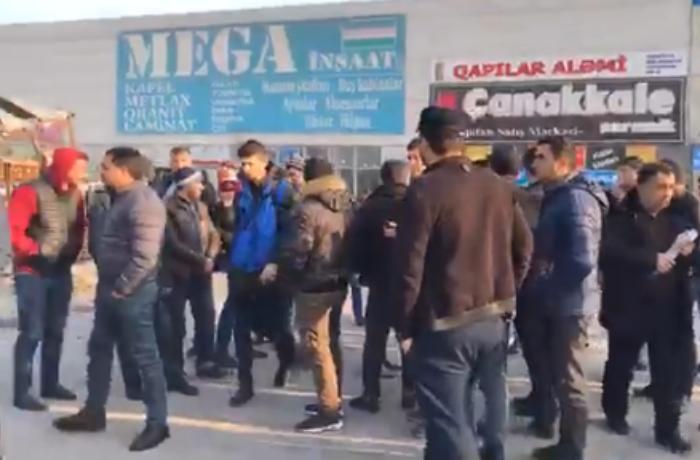 """EuroHome""da malları yanan sahibkarlar etiraz edirlər – VİDEO"