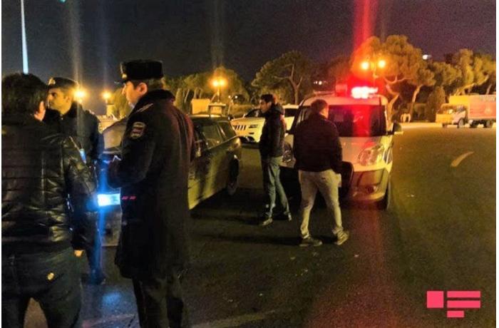 Bakıda avtoxuliqanlıq edən sürücülər qəza etdi - polis işə qarışdı - VİDEO