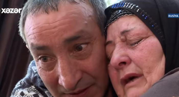 Azərbaycanlı ana Ermənistana aparılan oğluna qovuşdu - TƏSİRLİ ANLAR - VİDEO