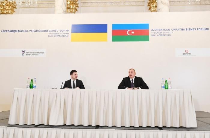Zelenskidən Azərbaycan Prezidentə təbrik