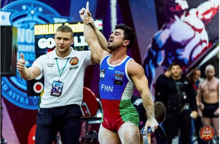 Mingəçevirli idmançı Moskvada dünya rekordu qırdı, çempion oldu - FOTO