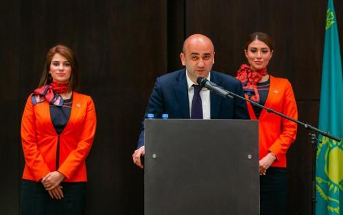 AZAL presents its new regular flight in Almaty