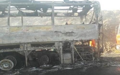 Gürcüstanda içərisində Azərbaycan vətəndaşlarının da olduğu avtobus yandı
