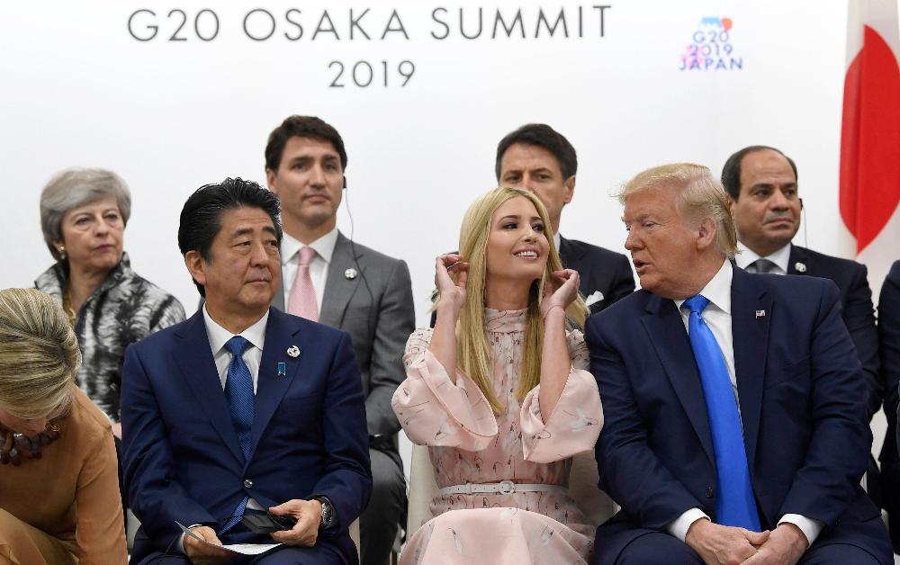 """G20 Zirvesi'nde liderlerin konuşmasına müdahil olan Ivanka Trump internette """"alay konusu"""" oldu"""