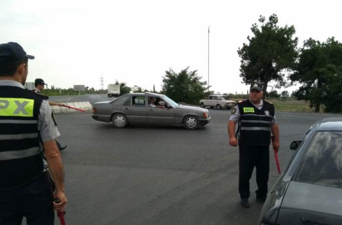 Qaxda yol polisindən nümunəvi addım - FOTOLAR