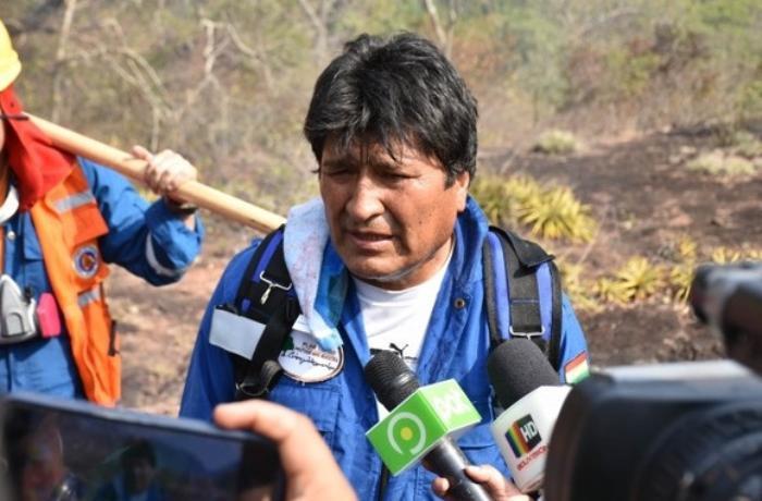 Morales gizləndiyi yerdən ilk fotosunu paylaşdı - FOTO