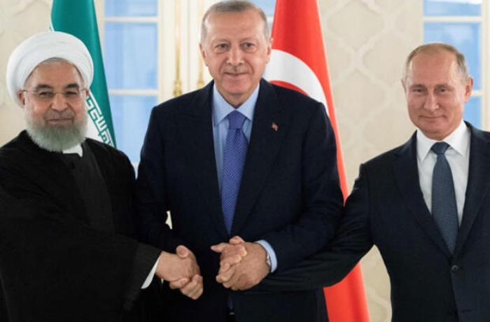 Türkiyə, Rusiya və İran arasında üçlü zirvə başlayıb