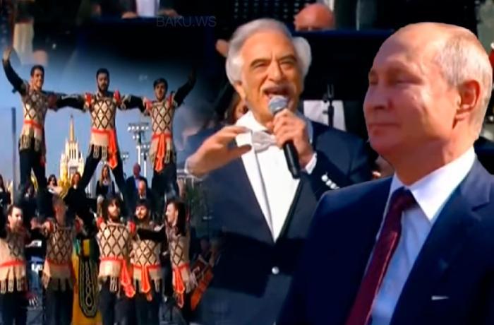 Ermənilər Putinin qarşısında Azərbaycan yallısı oynadı: Polad mahnımızı oxudu - VİDEO