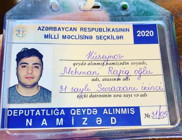 Mehman Hüseynovun namizədliyi ile ilgili görsel sonucu