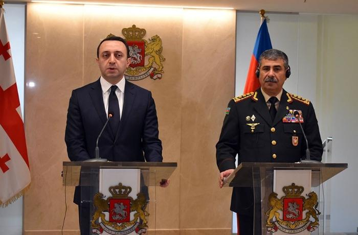 Azerbaijan's Minister of Defense meets his Georgian counterpart
