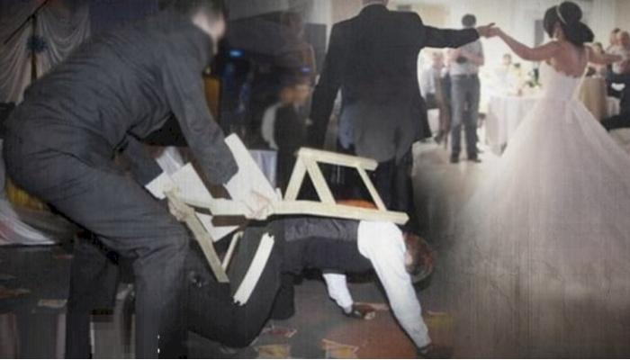 Azərbaycanda toyda dava - Qıza nömrə verən şəxsi 20 nəfər döydü - VİDEO/FOTO