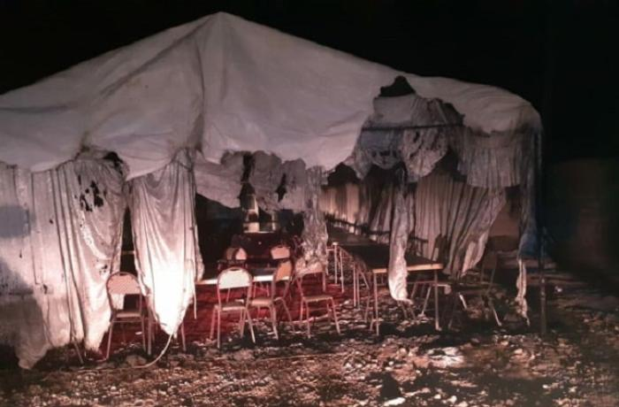 Azərbaycanda yas çadırı yandı - VİDEO