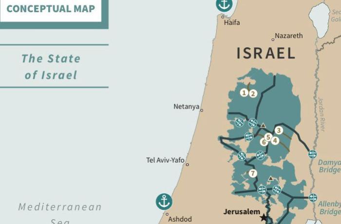 Fələstin dövlətinin xəritəsi belə olacaq - Tramp paylaşdı - FOTO