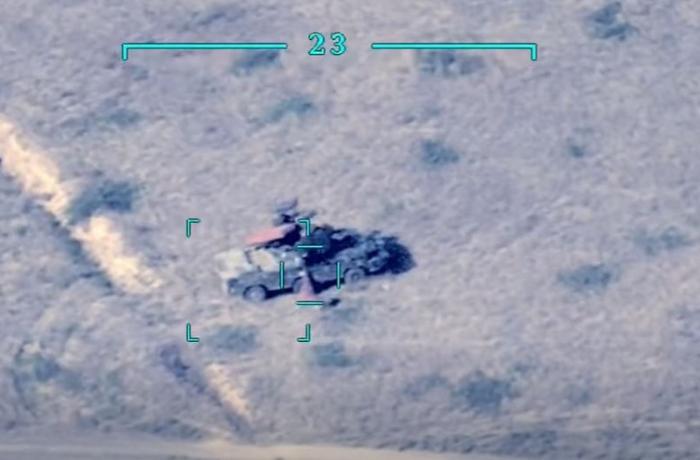 Düşmənin daha bir neçə hərbi texnikasını məhv etdik - VİDEO
