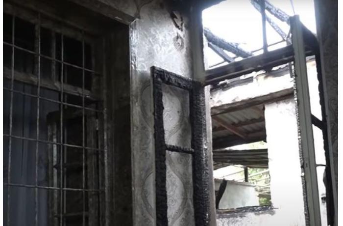 Düşmən mərmisi yaşayış evini dağıtdı - VİDEO