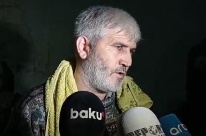 """Gəncə sakini: """"Qardaşım qızı üç uşağı ilə dağıntılar altındadır"""" - VİDEO"""
