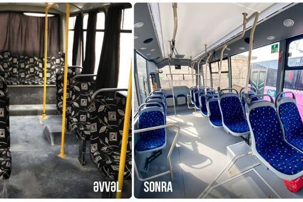 Bu marşrut xəttinə yeni avtobuslar verildi - FOTO