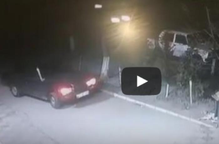 Azərbaycanda avtomobil oğurluğu kameraya düşdü - ANBAAN VİDEO