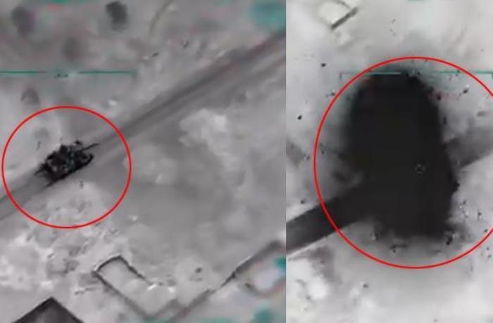 Türkiyə Suriya tankını belə vurdu - ANBAAN VİDEO