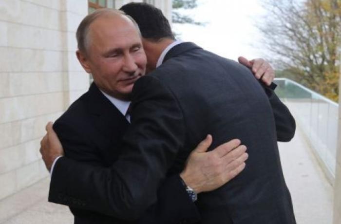 Putin Bəşər Əsədi Rusiyada belə qarşıladı - VİDEO