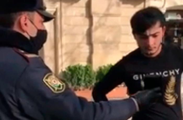 Bakıda polis inzibati tədbirlərə başladı - VİDEO