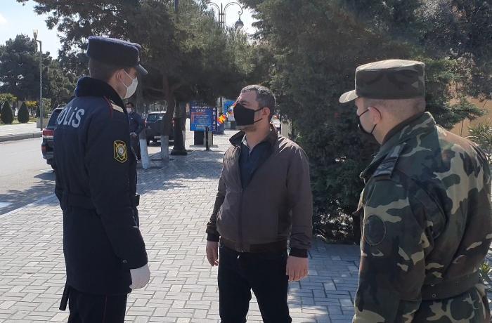 Sumqayıtda karantin rejimini pozan yüzə yaxın şəxs cərimələndi