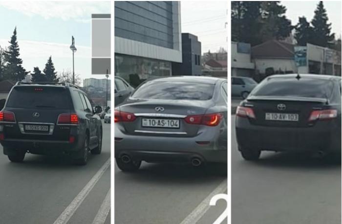 """Bakıda sürücülər kütləvi şəkildə """"protiv"""" getdi - 40 bal 1000 manat - VİDEO"""