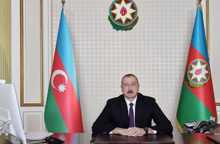 İlham Əliyev yeni Təhsil nazirini videoformatda qəbul edib