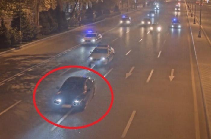 İçkili halda avtomobil qaçıran şəxs saxlanıldı - FOTOLAR