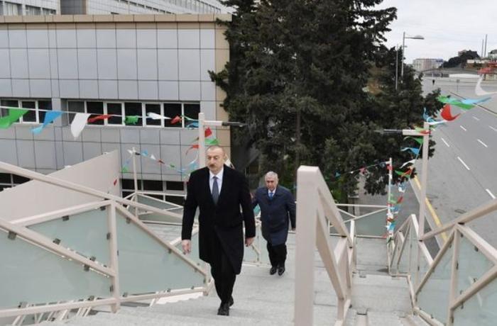 İlham Əliyev Bakı-Sumqayıt yolunun genişləndirilməsi çərçivəsində görülən işlərlə tanış oldu - FOTO