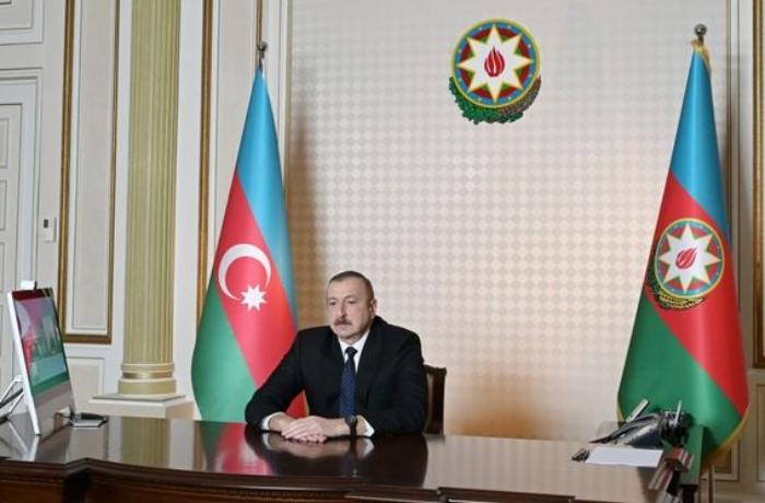 İlham Əliyev yeni baş prokuroru videoformatda qəbul etdi - FOTO