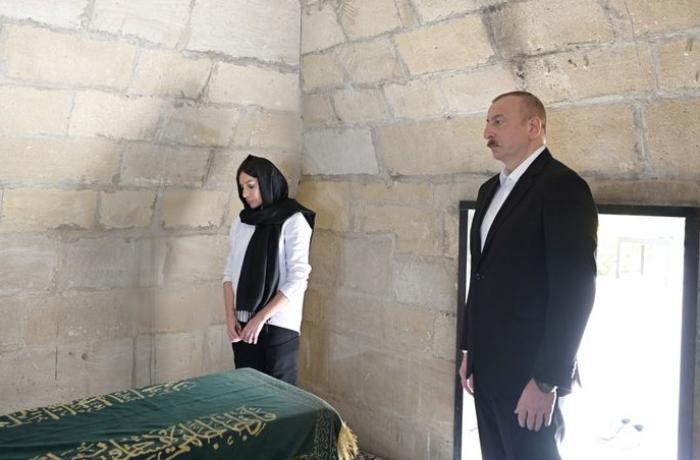 Prezident Şamaxıda Pirsaat Baba ziyarətgahında görülən işlərlə tanış olub - FOTOLAR